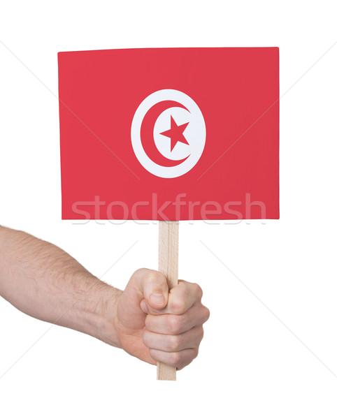 Main faible carte pavillon Tunisie Photo stock © michaklootwijk