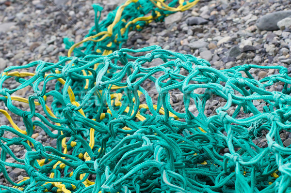 Fishing nets on a beach Stock photo © michaklootwijk