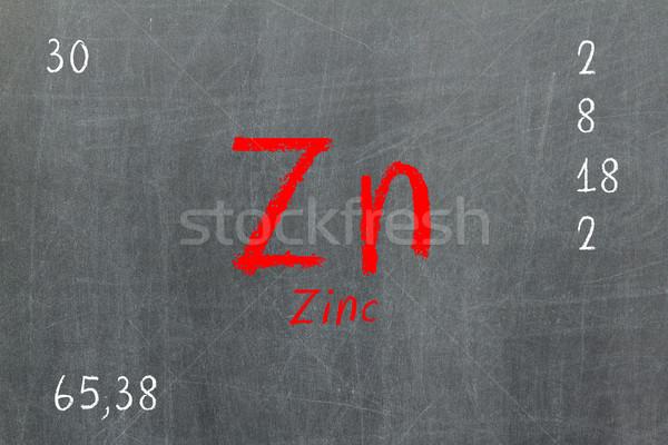 孤立した 黒板 周期表 亜鉛 化学 学校 ストックフォト © michaklootwijk