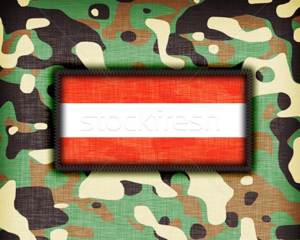 Tarnung einheitliche Österreich Flagge Textur abstrakten Stock foto © michaklootwijk