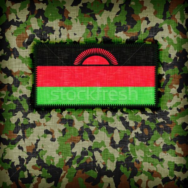 Kamuflaż uniform Malawi banderą tekstury streszczenie Zdjęcia stock © michaklootwijk