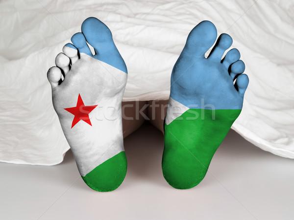Láb zászló alszik halál Dzsibuti nő Stock fotó © michaklootwijk