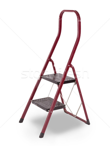 Old red step ladder Stock photo © michaklootwijk