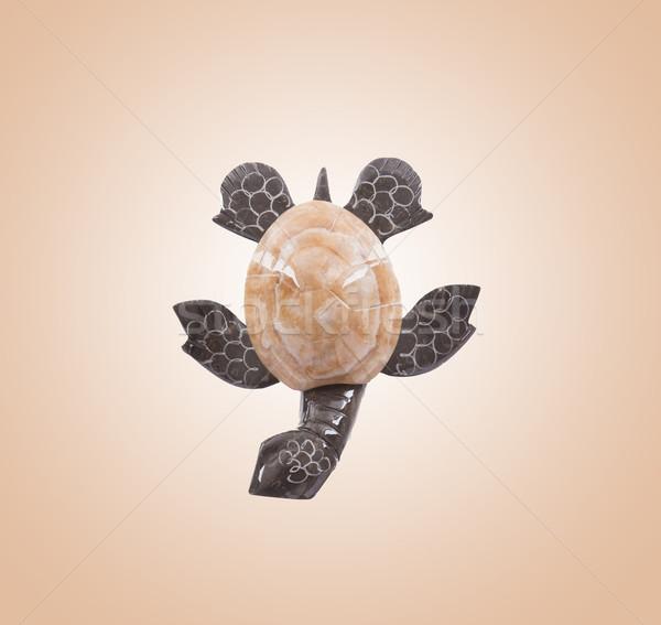 Small statue of a stone turtle Stock photo © michaklootwijk
