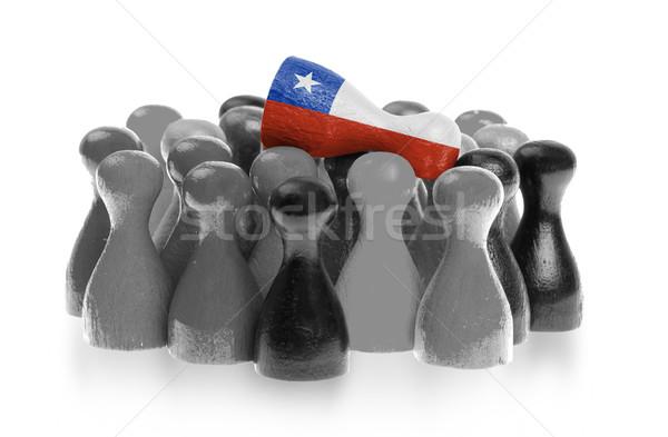 Uno peón superior bandera Chile Foto stock © michaklootwijk