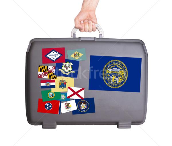 Usato plastica valigia design Foto d'archivio © michaklootwijk