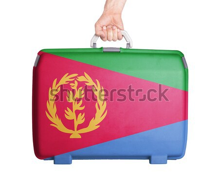 Used plastic suitcase with stains and scratches Stock photo © michaklootwijk