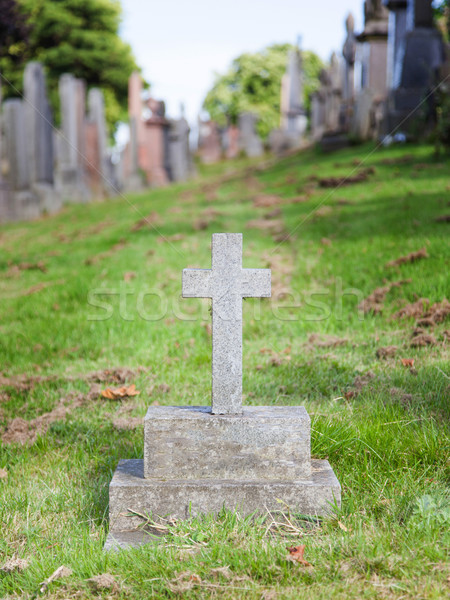 Very old gravestone for a child's grave Stock photo © michaklootwijk