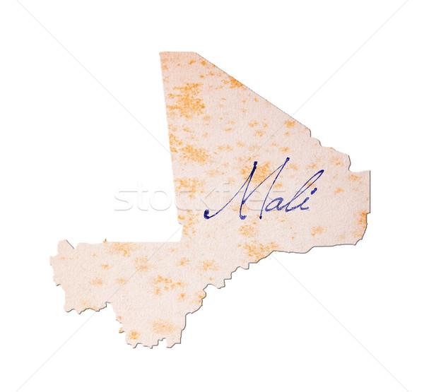 Mali - Old paper with handwriting Stock photo © michaklootwijk