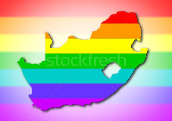 South Africa - Rainbow flag pattern Stock photo © michaklootwijk