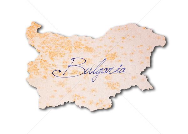 Bułgaria starego papieru pismo niebieski atramentu podróży Zdjęcia stock © michaklootwijk