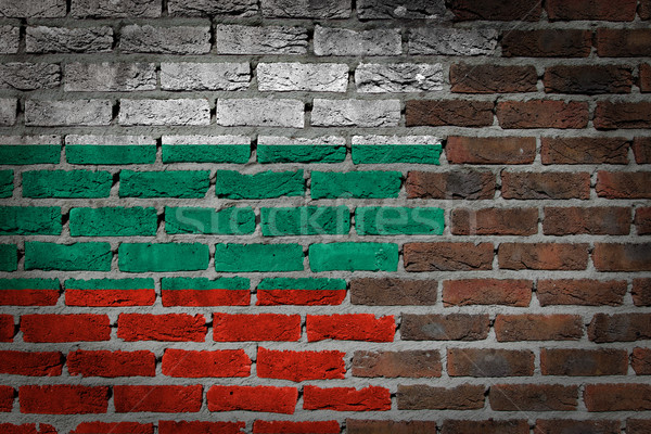 Dark brick wall - Bulgaria Stock photo © michaklootwijk