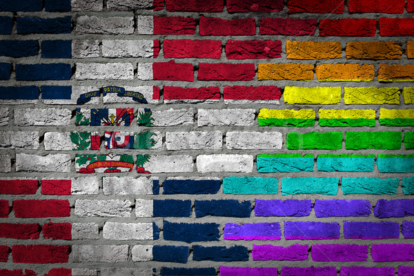 Dark brick wall - LGBT rights - Dominican Republic Stock photo © michaklootwijk