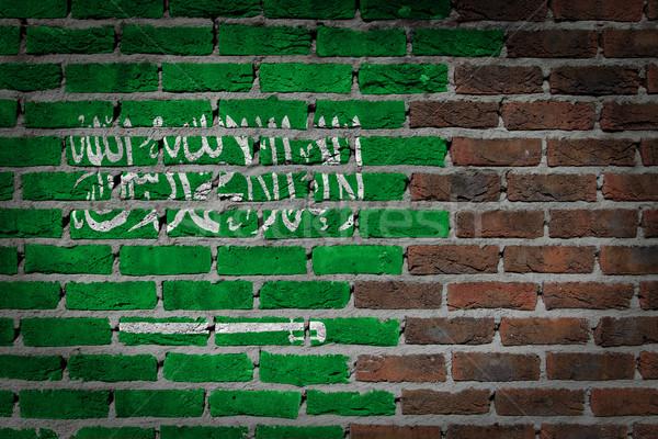 Dark brick wall - Saudi Arabia Stock photo © michaklootwijk