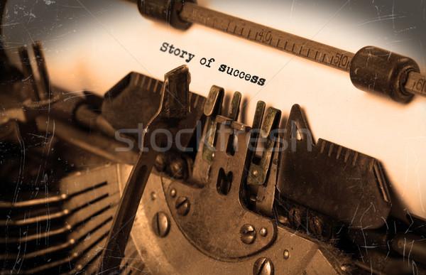 Vintage машинку избирательный подход история успех Сток-фото © michaklootwijk