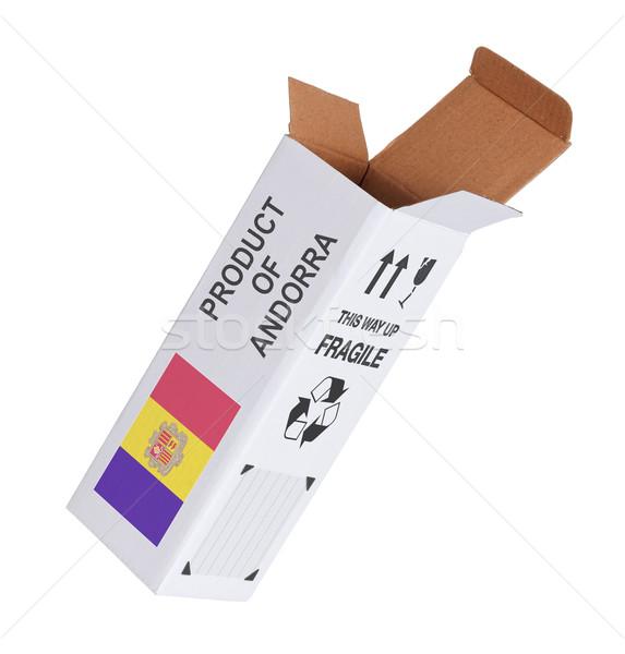 Concept of export - Product of Andorra Stock photo © michaklootwijk