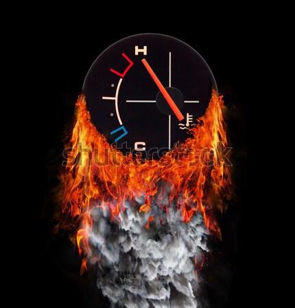 флаг тропе огня дым Македонии скорости Сток-фото © michaklootwijk