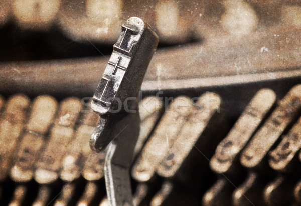 L hammer - old manual typewriter - warm filter Stock photo © michaklootwijk