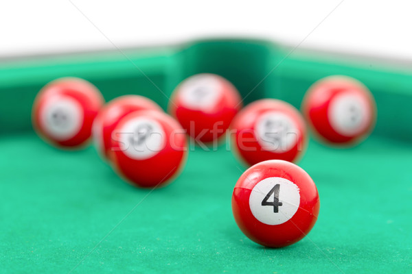 Snooker yeşil tablo arka plan kulüp Stok fotoğraf © michaklootwijk