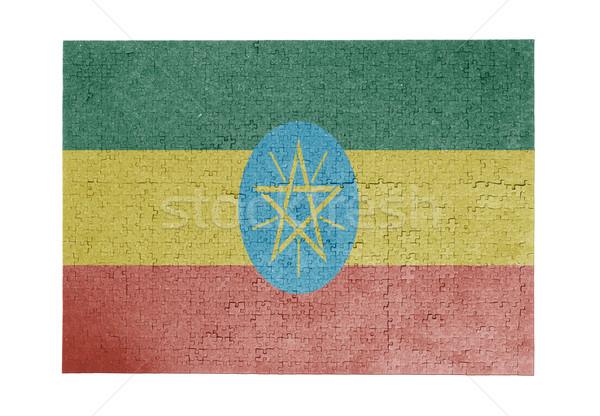 большой 1000 частей Эфиопия флаг Сток-фото © michaklootwijk