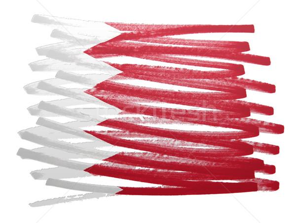 Bandeira ilustração Bahrein caneta negócio pintar Foto stock © michaklootwijk