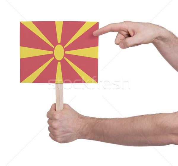 стороны небольшой карт флаг Македонии Сток-фото © michaklootwijk