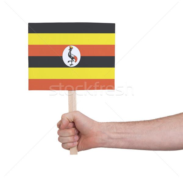 El küçük kart bayrak Uganda Stok fotoğraf © michaklootwijk