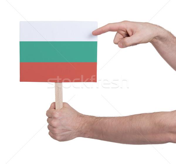 Strony mały karty banderą Bułgaria Zdjęcia stock © michaklootwijk