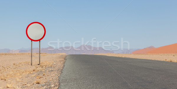 Speed limit sign at a desert road Stock photo © michaklootwijk