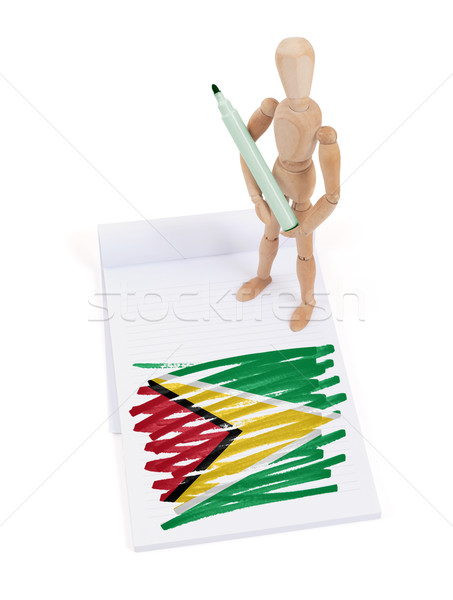 Wooden mannequin made a drawing - Guyana Stock photo © michaklootwijk