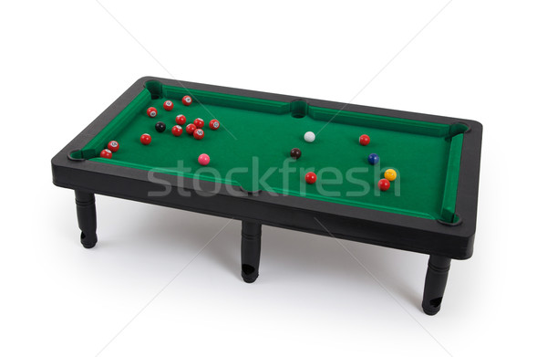 Miniature billiard table Stock photo © michaklootwijk