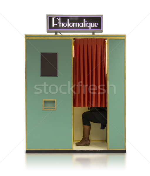 Vintage style photo booth vending machine on a white background Stock photo © michaklootwijk
