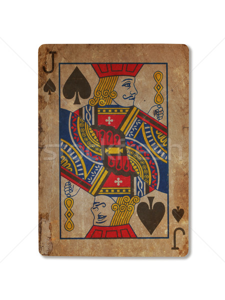 Very old playing card, XXXX Stock photo © michaklootwijk