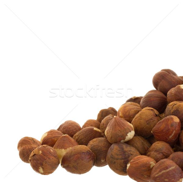 Hoop oude hazelnoten klaar verbruik selectieve aandacht Stockfoto © michaklootwijk