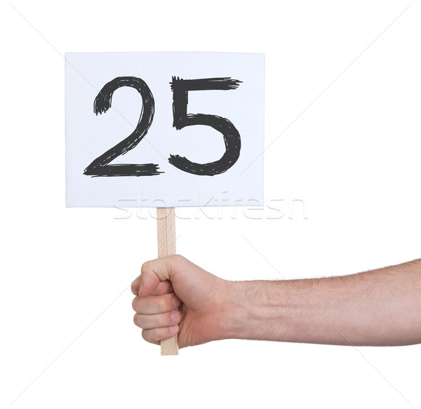 Sign with a number, 25 Stock photo © michaklootwijk