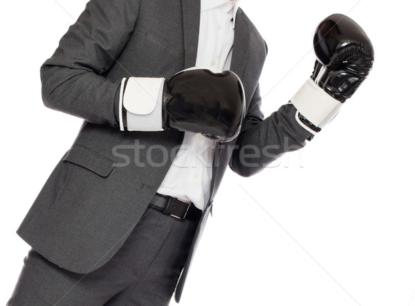 Businessman in boxing gloves  Stock photo © michaklootwijk