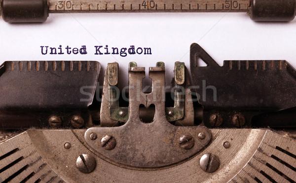 Old typewriter - United Kingdom Stock photo © michaklootwijk