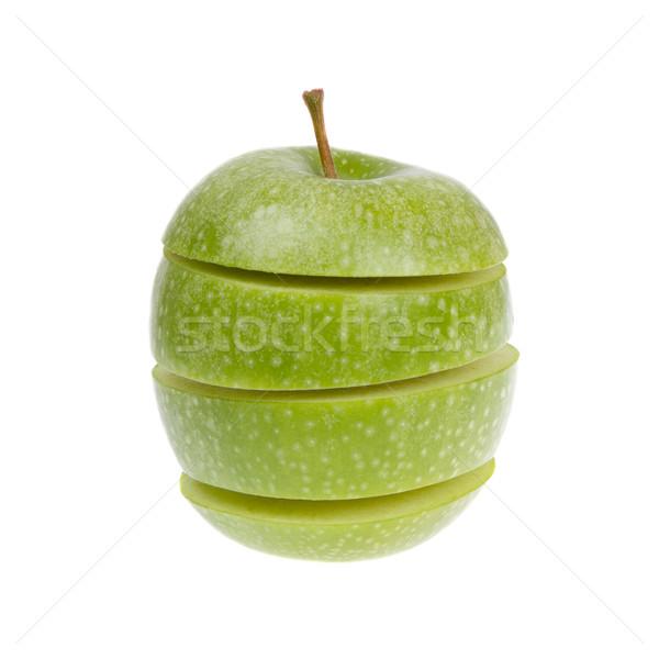 Zdjęcia stock: Zielone · jabłko · odizolowany · biały · żywności