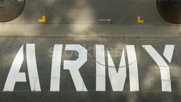 Text on an old Vietnam war Airplane displayed in Saigon Stock photo © michaklootwijk