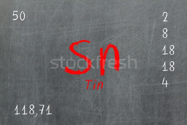 Yalıtılmış tahta kalay kimya okul Stok fotoğraf © michaklootwijk