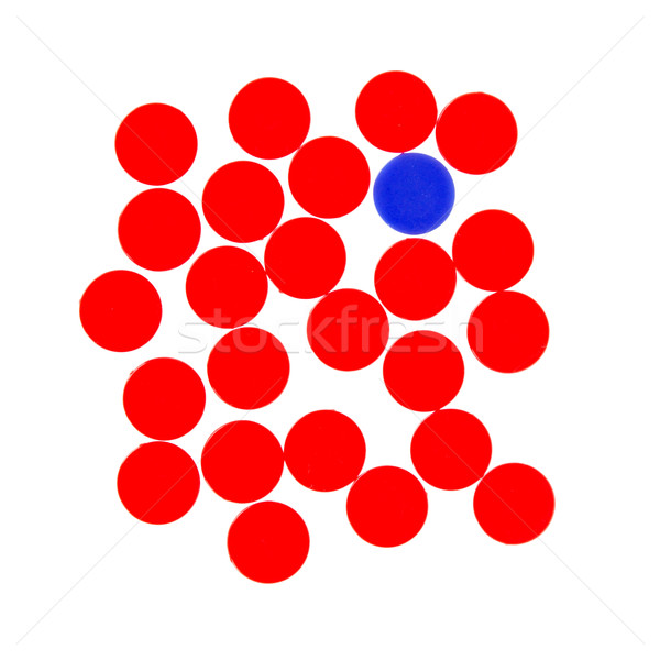 Red and blue chips used in the game line-up 4 Stock photo © michaklootwijk