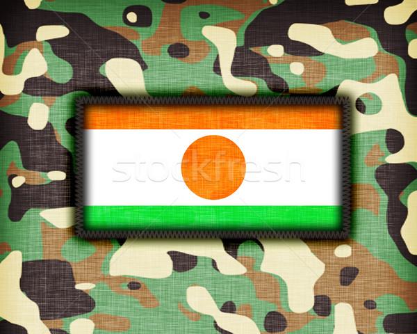 Uniforme Níger bandera textura resumen Foto stock © michaklootwijk