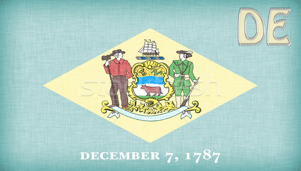 Linen flag of the US state of Delaware Stock photo © michaklootwijk