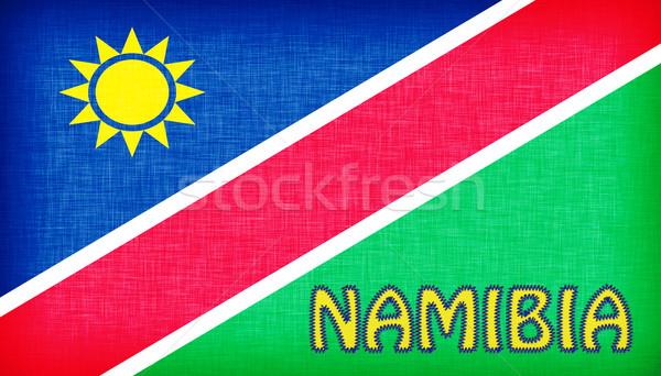 Bayrak Namibya harfler yalıtılmış doku Stok fotoğraf © michaklootwijk