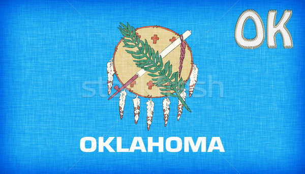 Linen flag of the US state of Oklahoma Stock photo © michaklootwijk