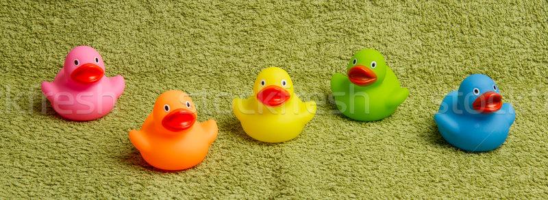 Rubber ducks isolated Stock photo © michaklootwijk