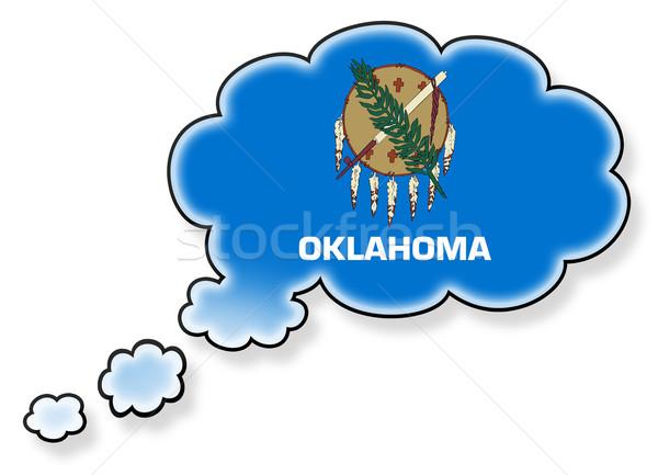 Bandeira nuvem isolado branco Oklahoma arte Foto stock © michaklootwijk