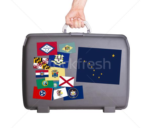 Kullanılmış plastik bavul dizayn Stok fotoğraf © michaklootwijk