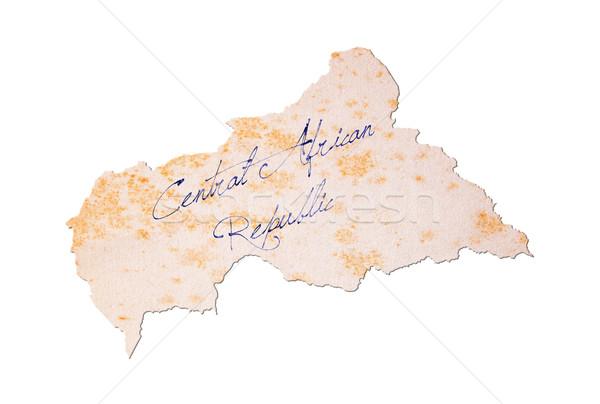 Starego papieru pismo centralny Afryki republika niebieski Zdjęcia stock © michaklootwijk