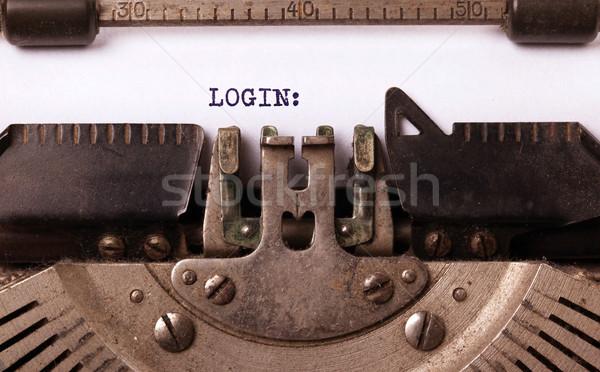 Vintage старые машинку вход письме Сток-фото © michaklootwijk